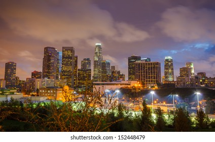 Downtown of Los Angeles at night
