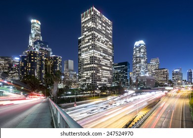 Downtown Los Angeles overlooking the 110 freeway