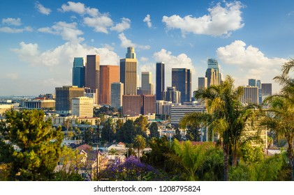 Downtown Los Angeles at sunny day