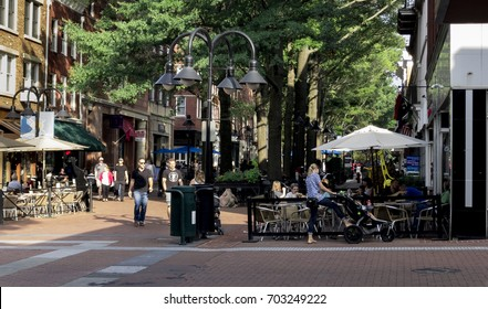 The Downtown Mall in Charlottesville, VA on August 25, 2017. The site was the site of a violent white supremacist rally on August 12, 2017 that led to one death and multiple injuries.