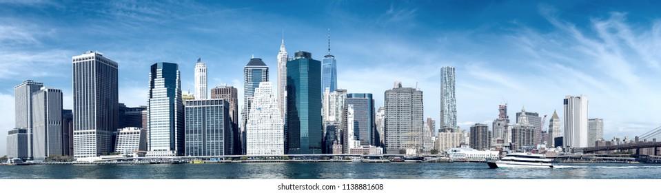 Downtown Manhattan New York City.