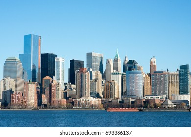 Downtown Manhattan in Profile, New York City