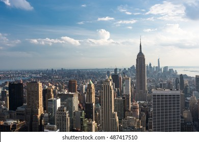 Downtown Manhattan Skyline with the Empire State Building, New York City