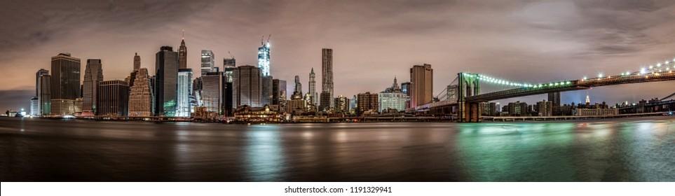 Downtown Manhattan Without Lights after Super Storm Sandy