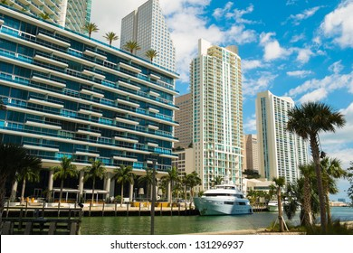 Downtown Miami along the Miami River.