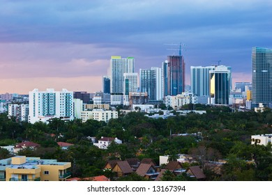 Downtown Miami Skyline at Dusk