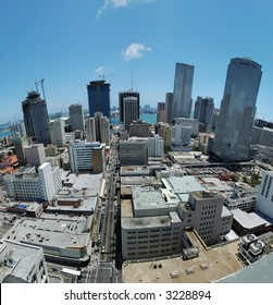 Downtown Miami - view over downtown Miami at noon