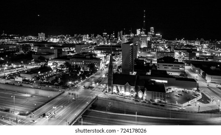 Downtown Milwaukee from Drone