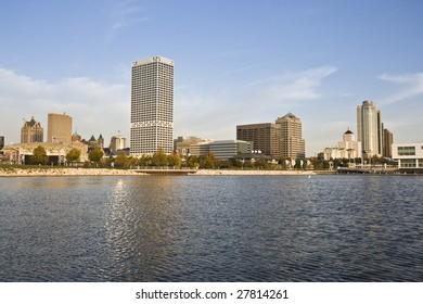 Downtown Milwaukee seen from Lake Michigan