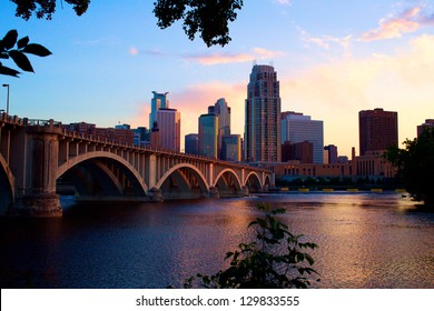 Downtown Minneapolis at Dusk