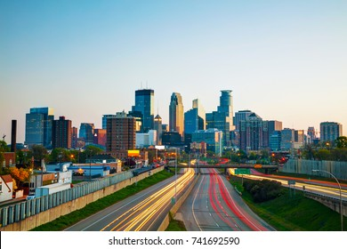 Downtown Minneapolis, Minnesota at the sunrise