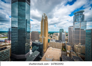 Downtown Minneapolis and surrounding urban