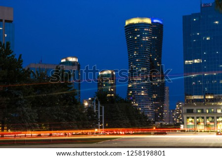 Downtown Mississauga by night