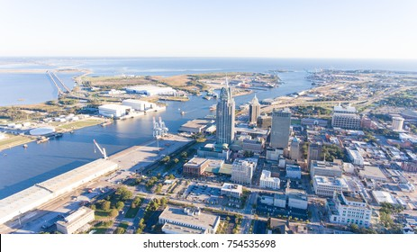 Downtown Mobile, Alabama on an Autumn afternoon