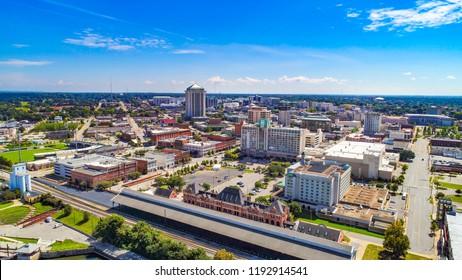 Downtown Montgomery Alabama AL Skyline Drone Aerial