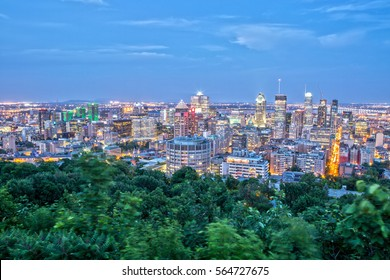 Downtown Montreal from Mont Royal at Night