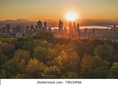 Downtown Montreal sunrise