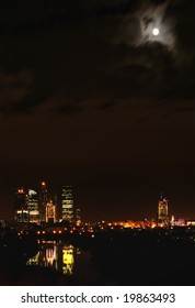 Downtown Moscow. Night panorama