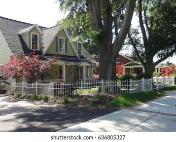 Downtown neighborhood in Cary, North Carolina