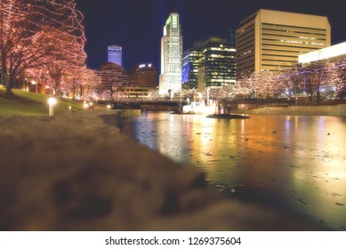 Downtown Omaha from Heartland of America Park