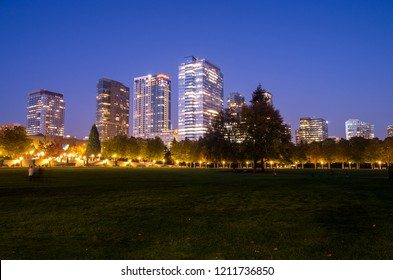 Downtown Park in Bellevue, Washington-USA