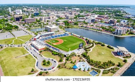Downtown Pensacola, Florida. Blue Wahoos
