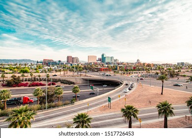 Downtown Phoenix, Arizona and Highway