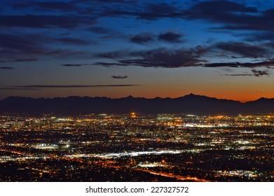 Downtown Phoenix at dusk