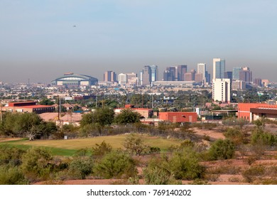 Downtown Phoenix as seen from Papago Park