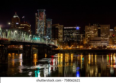 Downtown Portland after dark 2