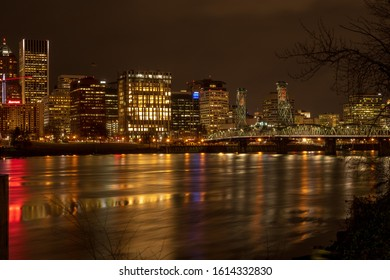 Downtown Portland viewed from the Eastbank Esplanade.