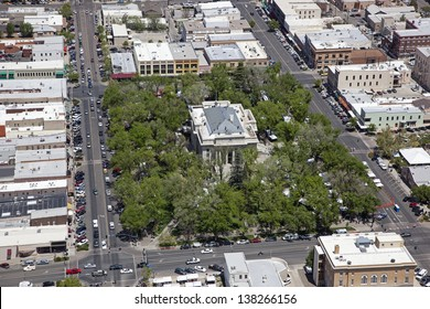 Downtown Prescott, Arizona and the Yavapai County Courthouse