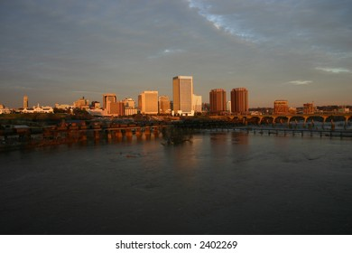 Downtown Richmond Virginia at Sunset