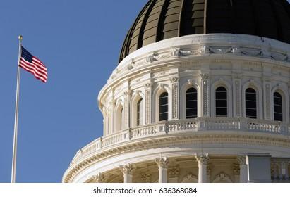 Downtown Sacramento California Capital Dome Building