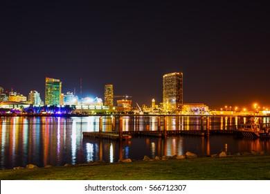 Downtown San Diego by night, California