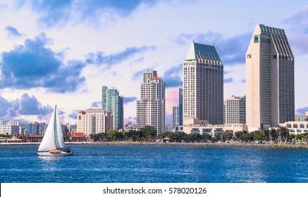 Downtown San Diego, California USA.