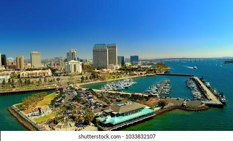 Downtown San Diego and the Coronado Bridge over the bay