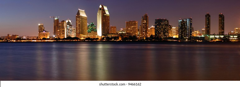 Downtown San Diego panorama from Coronado island