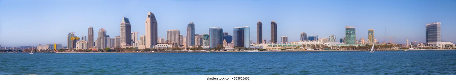 Downtown San Diego Skyline In Day Time