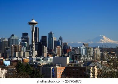 Downtown Seattle, WA, USA - Feb 28, 2015. Downtown Seattle, WA, USA