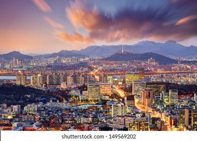 Downtown Seoul, South Korea.