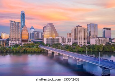 Downtown Skyline of Austin, Texas in USA