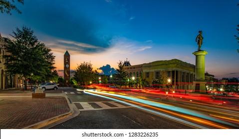 Downtown Spartanburg, South Carolina, USA near Greenville SC