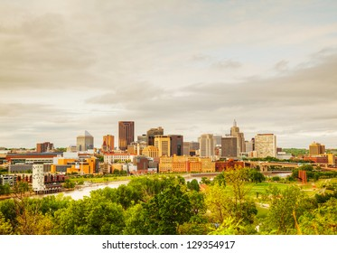 Downtown St. Paul, MN and Mississippi river