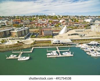 Downtown Tacoma Washington Aerial View