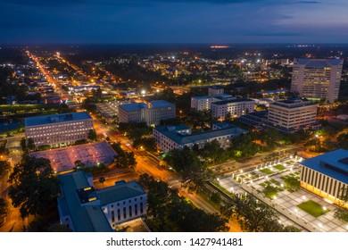 Downtown Tallahassee Florida at night