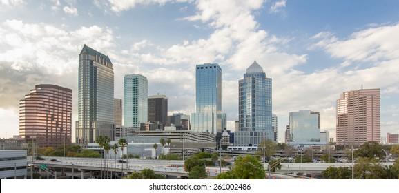 Downtown Tampa Florida daytime afternoon