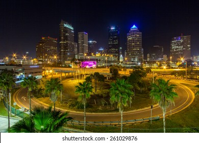Downtown Tampa Florida at night