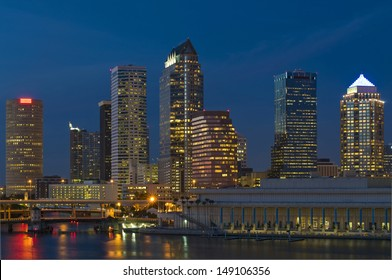 Downtown Tampa Florida Skyline Night