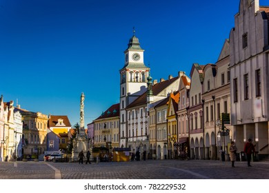 Downtown in Trebon, Czech Republic